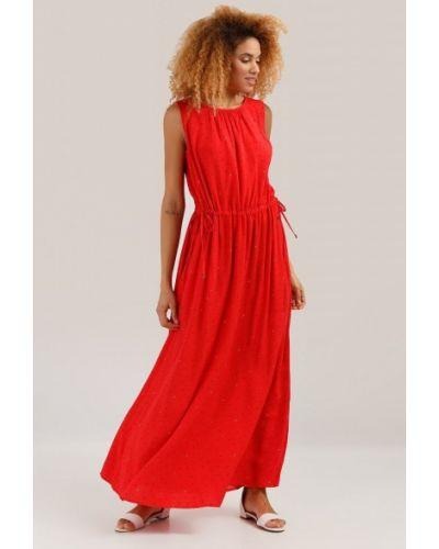 Платье макси в пол - красное Finn Flare