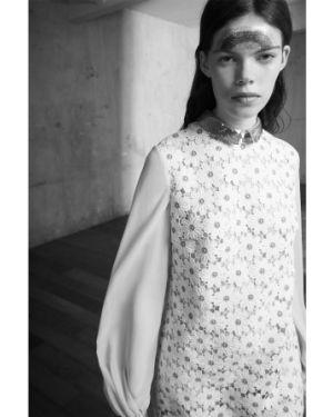 Платье макси шифоновое с манжетами Giamba