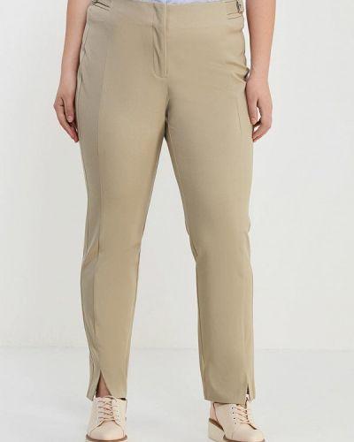 Бежевые брюки прямые Violeta By Mango