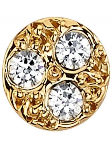 Złote kolczyki sztyfty z diamentem Bvla