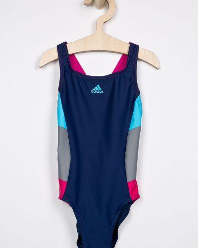Слитный купальник эластичный синий Adidas Performance