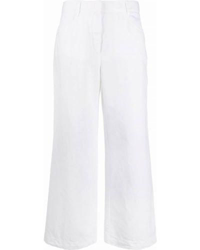 С завышенной талией белые укороченные брюки с карманами Incotex