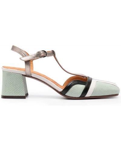 Черные кожаные сандалии на каблуке Chie Mihara