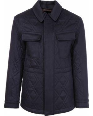 Классическая синяя стеганая куртка на молнии с карманами Ermenegildo Zegna