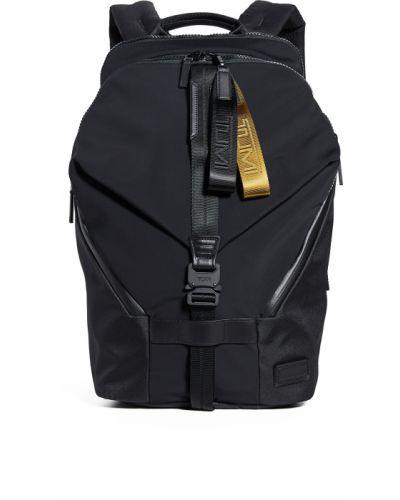 С ремешком черный рюкзак из натуральной кожи Tumi