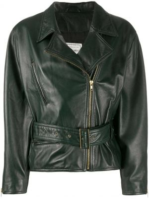 Черная кожаная куртка байкерская A.n.g.e.l.o. Vintage Cult