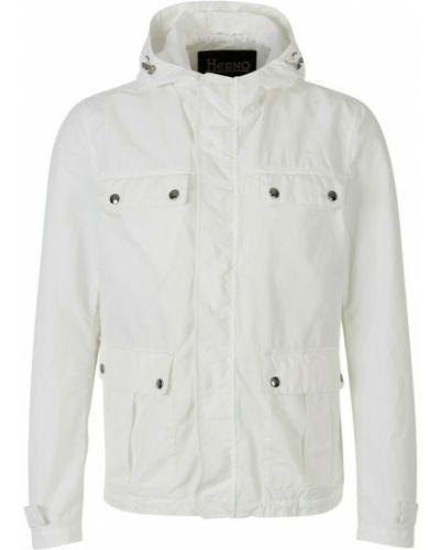 Biała kurtka bawełniana Herno