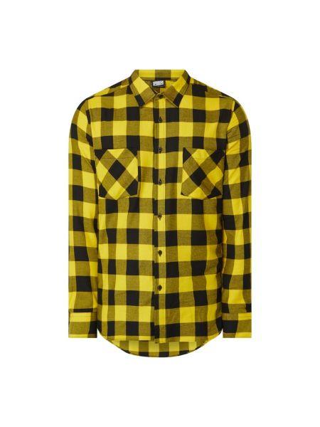Żółta koszula bawełniana z długimi rękawami Urban Classics