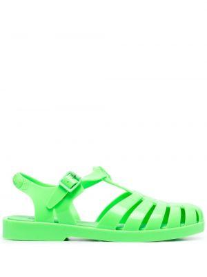 Zielone sandały z klamrą Rombaut