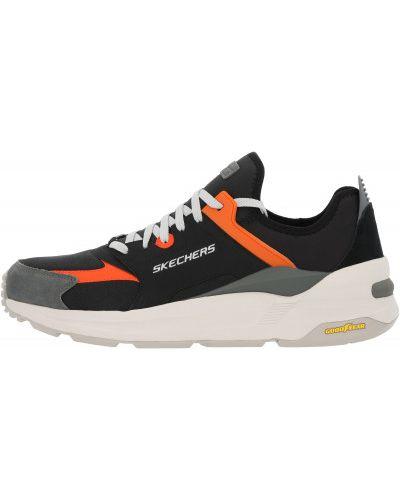 Текстильные спортивные кроссовки на шнуровке Skechers