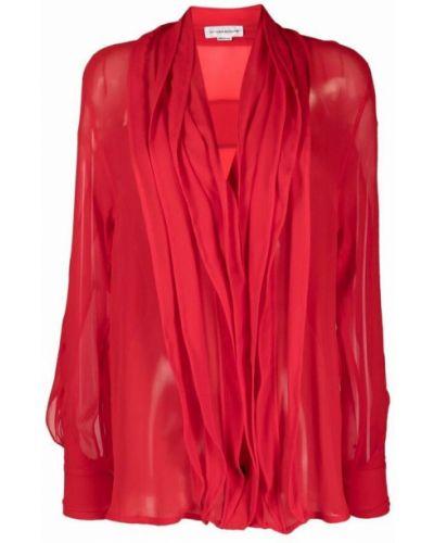 Koszula - czerwona Victoria Beckham