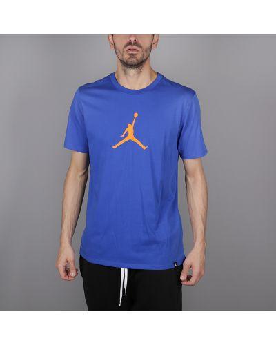 Синяя футболка хлопковая Jordan