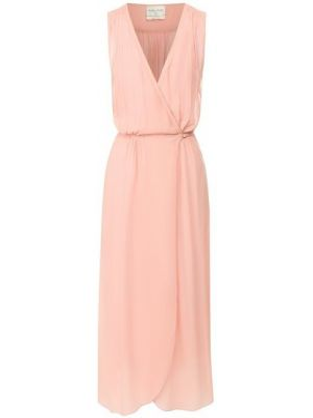 Платье с поясом розовое с запахом Forte_forte