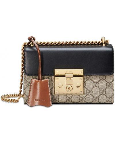 Замшевая маленькая сумка с подкладкой Gucci