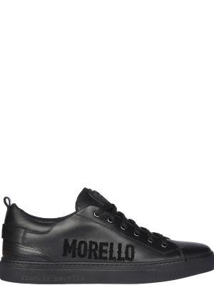Кожаные кеды - черные Frankie Morello