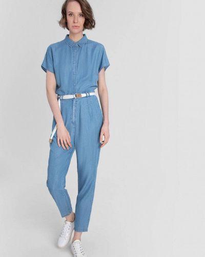 Синий джинсовый комбинезон O'stin