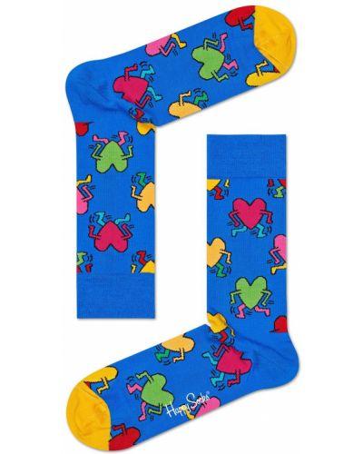 Носки с узором синий Happy Socks