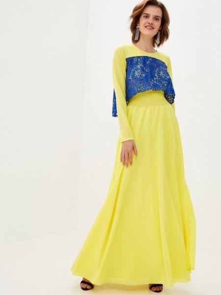 Вечернее желтое вечернее платье Sahera Rahmani