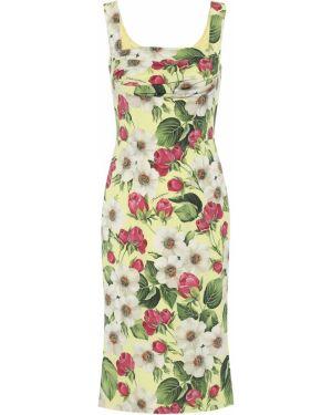 Летнее платье с цветочным принтом шелковое Dolce & Gabbana