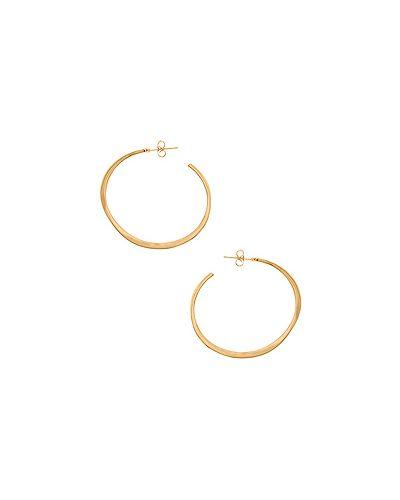 Серьги-кольца позолоченные Gorjana