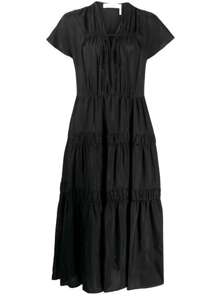 Платье макси с V-образным вырезом платье-солнце See By Chloe