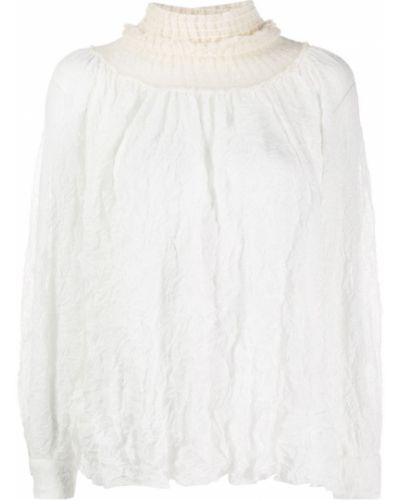 Блузка с длинным рукавом в полоску батник Maison Flaneur