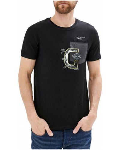 Czarna koszula jeansowa krótki rękaw bawełniana Guess