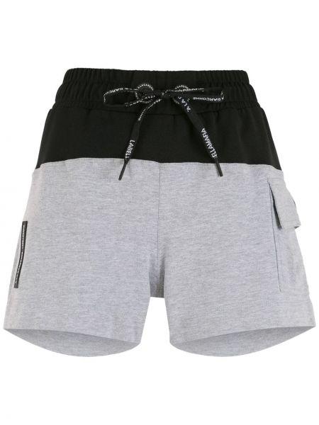 Хлопковые спортивные шорты - серые À La Garçonne