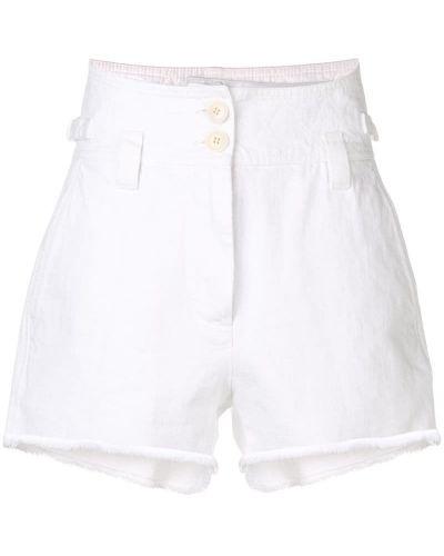 Белые шорты с карманами на пуговицах Givenchy