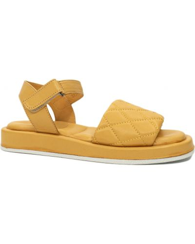 Кожаные босоножки - желтые Phany