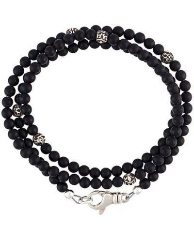 Браслет из серебра черный Nialaya Jewelry