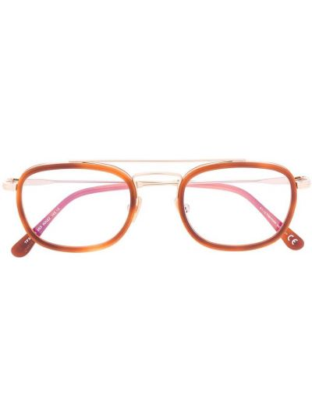 Brązowy oprawka do okularów metal Tom Ford Eyewear