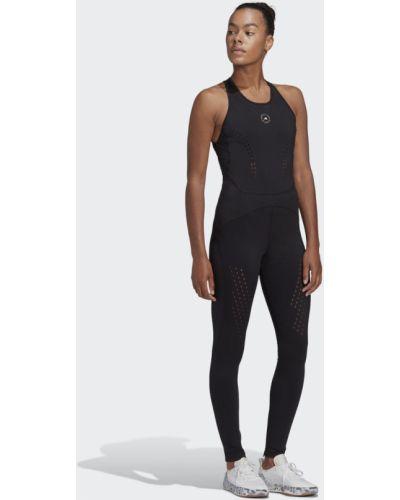 Черный комбинезон для фитнеса для йоги Adidas