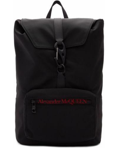 Plecak na laptopa brezentowy miejski Alexander Mcqueen