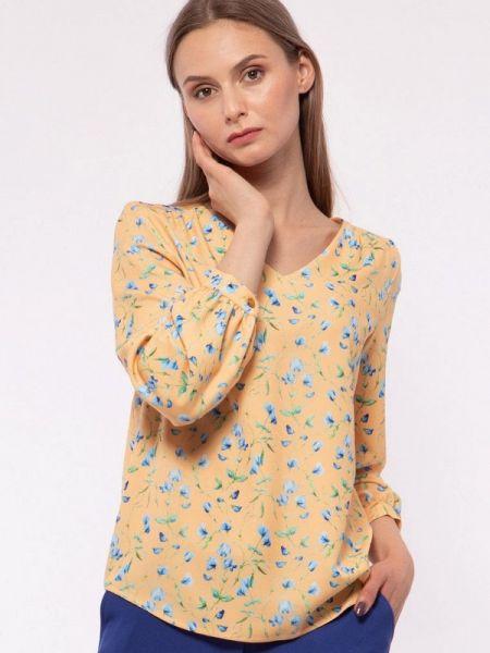 Блузка с длинным рукавом весенний желтый Vladi Collection