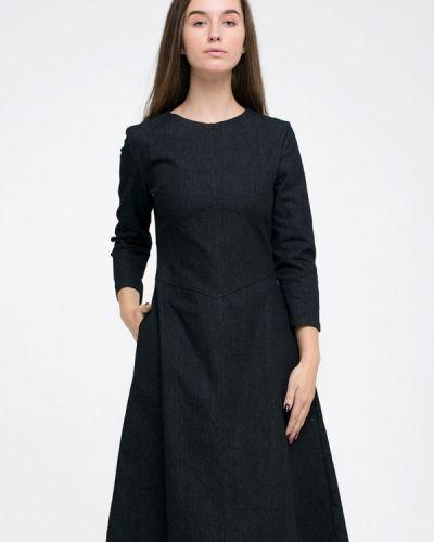 Платье миди джинсовое черное Kira Mesyats