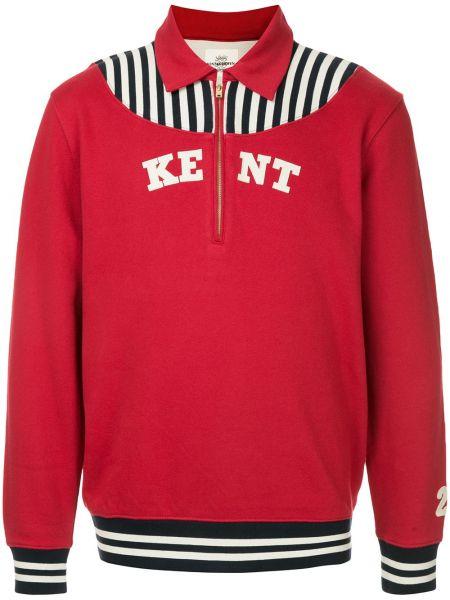Klasyczny sweter bawełniany z długimi rękawami Kent & Curwen