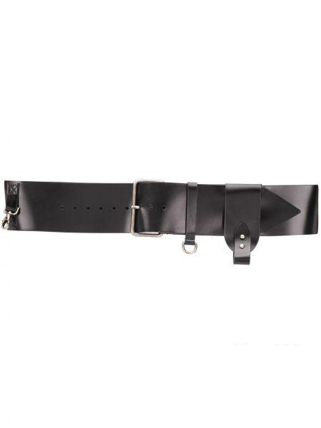 Черный ремень металлический с пряжкой с поясом Ann Demeulemeester