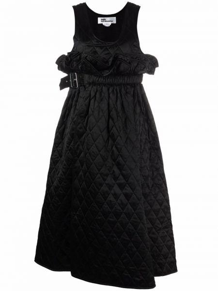 Асимметричное черное платье без рукавов Comme Des Garçons Noir Kei Ninomiya