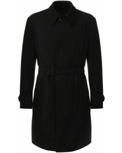 Пальто однобортное с поясом Emporio Armani
