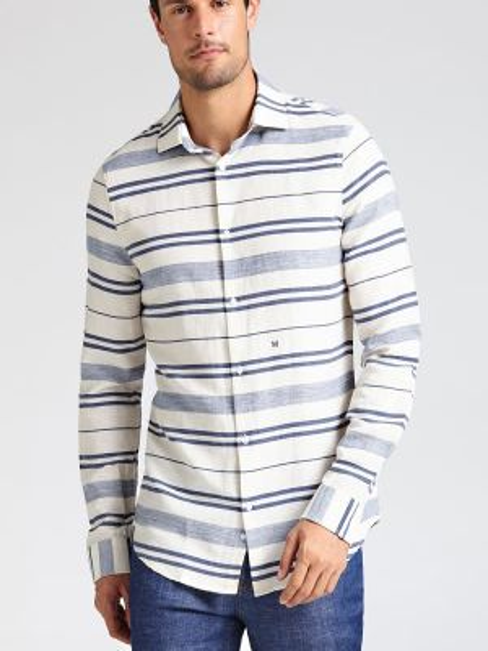Koszula z długim rękawem w paski z paskami Guess
