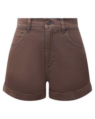 Коричневые хлопковые джинсовые шорты M Missoni