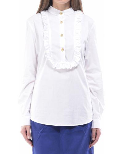 Белая блузка хлопковая Love Moschino