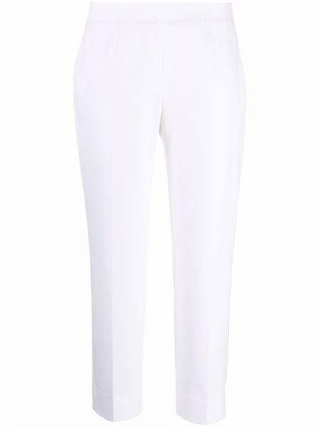 Białe spodnie bawełniane Piazza Sempione