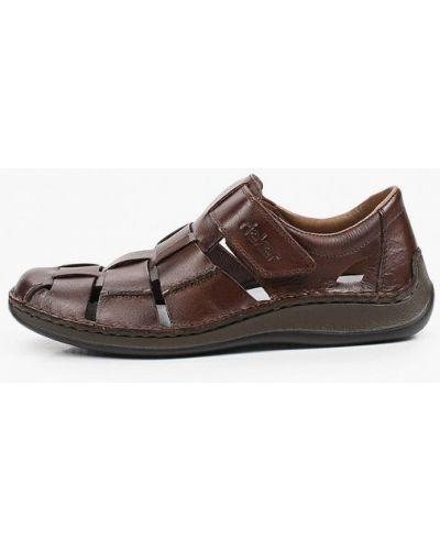Кожаные коричневые сандалии Rieker