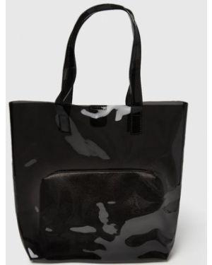 Черная сумка шоппер с камнями Ostin