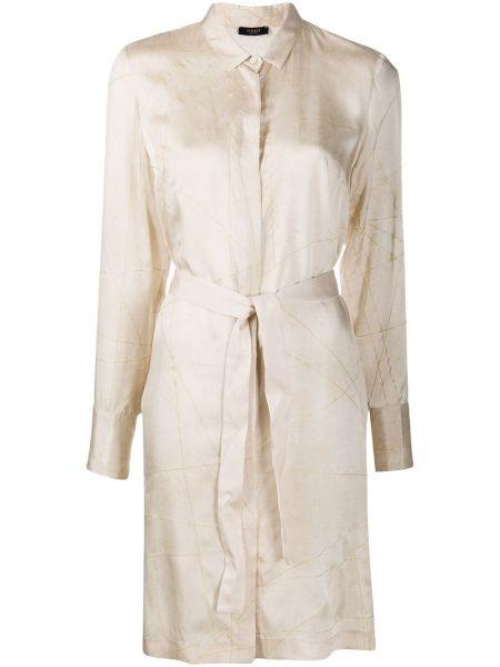 Платье миди классическое с поясом Peserico
