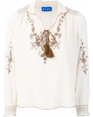Хлопковая блузка - белая Mih Jeans