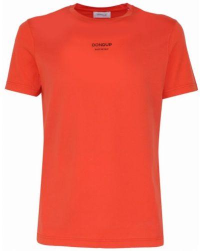 Pomarańczowa t-shirt Dondup