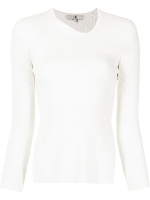 Biała koszulka z wiskozy Tibi